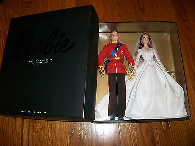 Barbie Prince William And Catherine Kate Royal Wedding Giftset