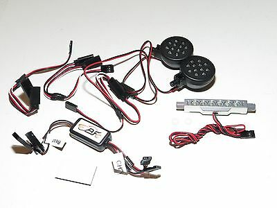 Yy-Madmax Hpi Km Rovan Baja 1/5 5B Buggy Front And Rear Led Light Set Silver