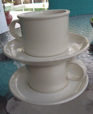 2 Sets~White StoneHenge MIDWINTER Cup/Saucer Lot~Flat Bottom~England~MORE Avail
