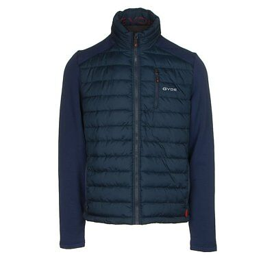 $300 Mens Gyde Battery Powered Gerbing Heated Calor Hybrid Jacket Coat Navy Blue
