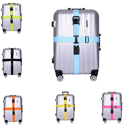 Adjustable Suitcase Luggage Straps Travel Buckle Baggage Tie Down Belt Lock New