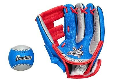 "Franklin Teeball Fielding Glove - NEO-Grip mit Ball, 9"" rot, Baseball, Handschuh"