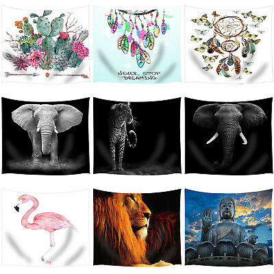 Tapestries Wall Hanging Poster Flower Animals Bedspread Beach Towel Yoga Mats