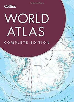 Collins World Atlas: Complete Edition by Collins Maps   Hardcover Book   9780008