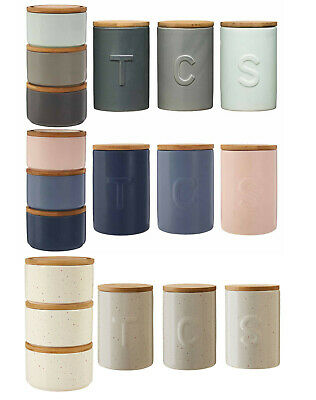 Fenwick Tea Coffee /& Sugar Canisters Storage Solution Complementary Design Jars