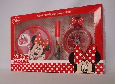 DISNEY - MINNIE MOUSE - Eau de Toilette 50ml & Lip Gloss 5ml & Purse#76-14-3
