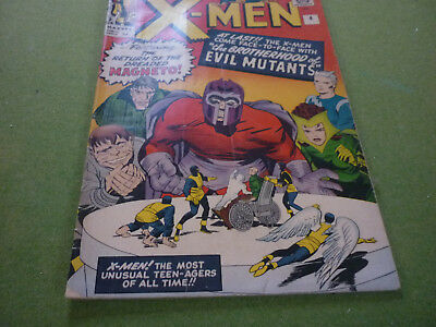 X-Men # 4  1st app. of Quicksilver & the Scarlet Witch !  /marvel comic