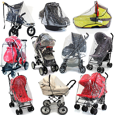 Universal Rain Cover, Carrycot, Tandem,Side By Side, Carseat, Stroller, Pramette
