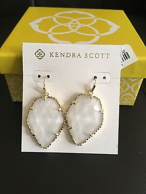 2cca99e2f KENDRA Scott CORLEY Mother of Pearl Gold Plated Drop Earrings NWT ...