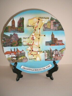 with Stand Rhine River Plate Decorative Relief Wall Plate Souvenir 5 1//2in