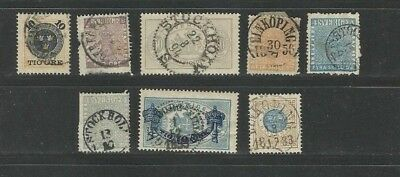 CS52 Sverige Sweden Schweden Suede beautiful small selection of cancelled stamps
