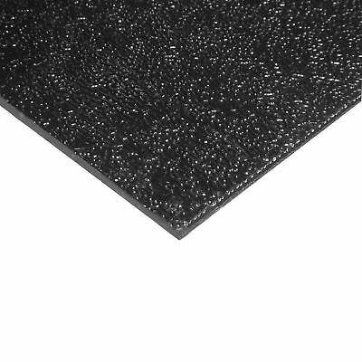 "ABS Sheet 1/4"" x 24"" x 48"", Black, Textured"