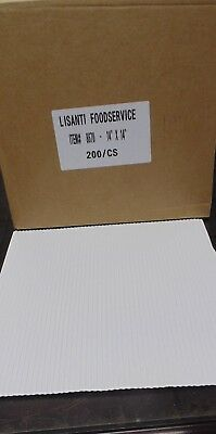 "Corrugated Cardboard Pizza Pad White, insert 14"" Length x 14"" Width  200/Case"