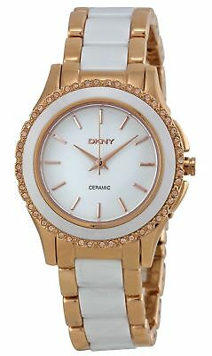 de66b21028a DKNY Westside Crystals Ceramic White Dial Gold Tone Women s Watch NY8821 SD
