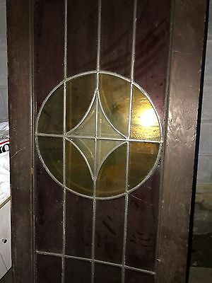 An Amazing Stained Glass Door , 80 Inch Tall Stained Glass Door