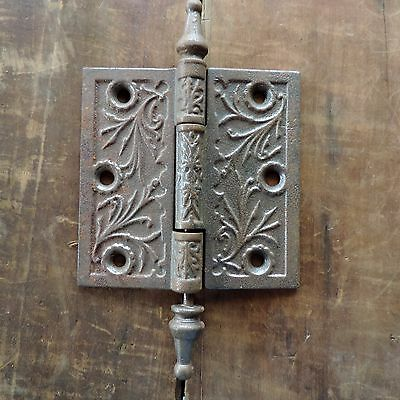 Antique Door Hinge Metal Iron Decorative Hardware Home Building Victorian Large