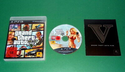 GTA 5 Grand Theft Auto Five GTA V  USK 18 fuer PS3 Playstation 3 m. OVP und Anl
