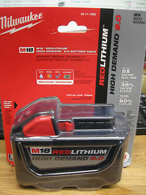 NEW MILWAUKEE 48-11-1890 HIGH DEMAND 9.0Ah M18 RED LITHIUM ION BATTERY PACK