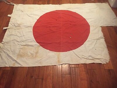 "WWII US Vet Bring Back Flag 7' 5"" x 5' 3"" from Pacific Campaign"