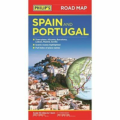 Philip's Spain and Portugal Road Map - Paperback NEW Philips 2015-03-02