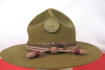 pre-WWI US Army M1911 Montana Peak Campaign Hat - w/Medical Corps Cords 5-Stitch