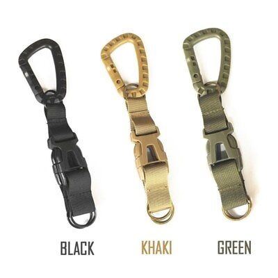 Tactical Quick Release Buckle Keyring Backpack Belt Buckle Key Chain Hook