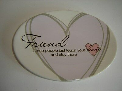 FRIEND SOAP DISH JEWELRY DISH TRINKET DISH COIN DISH HEART TO HEART by CARSON