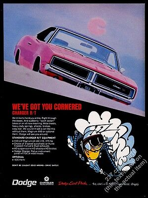 1969 Dodge Charger RT R/T ed car photo vintage print ad