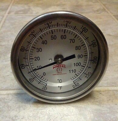 "Winter Instruments 3.25"" Dial Thermometer 20-240 F / 0-110 C"