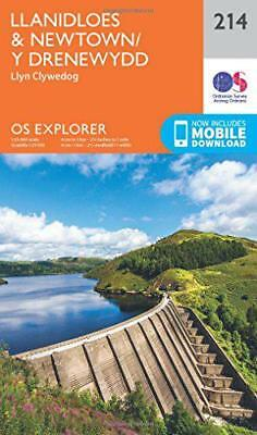 OS Explorer Map (214) Llanidloes and Newtown - Y Drenewydd by Ordnance Survey |