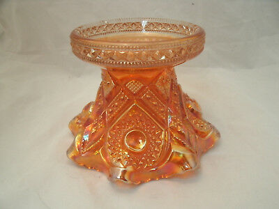 Vtg Imperial Glass FASHION Marigold Carnival Punch Bowl Stand #402.5 Retired EC