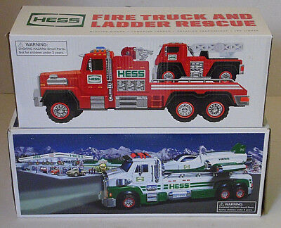 WOW! NIB Hess LOT Toy Truck & Space Cruiser + Fire Truck & Ladder Rescue