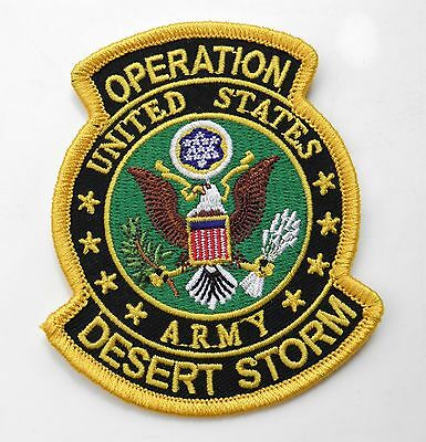 Us Army Operation Desert Storm Gulf War Embroidered Patch 3.5 X 3 Inches