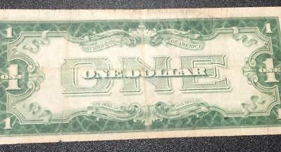 """1928A $1 Blue """"FUNNY BACK"""" SILVER Certificate VG Old US Currency"""