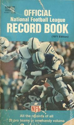 Official National Football League Record Book Good 1971 Vintage Paperback