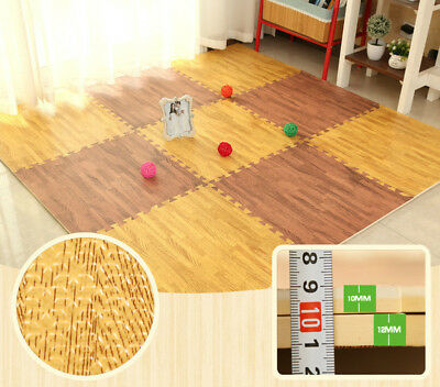 30X30cm EVA Foam Baby Play Mat Wood Grain Playmat Crawling Exercise Gym Floor