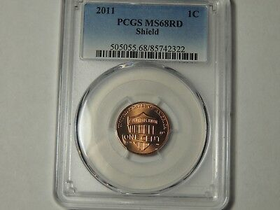 2011 Lincoln SHIELD Cent 1c PCGS MS68RD