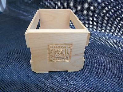 Old Vtg NAPA VALLEY WWOD CRATE Storage Box decor Display Slated Wooden Prop