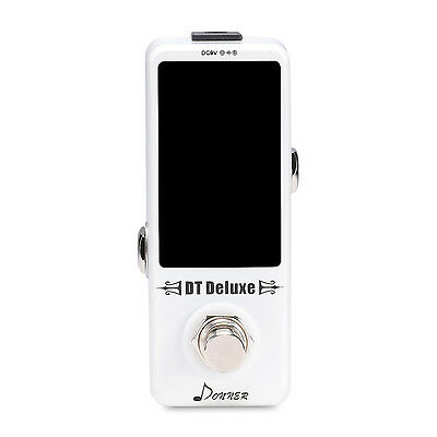 Donner New DT Deluxe Guitar Tuner Pedal ±0.1 Cent for Guitar & Bass