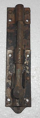 Vintage Door Sliding Barrel Bolt Cast Iron And Iron Made In India In2119