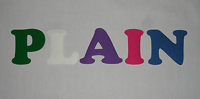 Iron On Die Cut Letters-PLAIN-Buntings,Quilting,Applique,Crafts,Signs Per LETTER