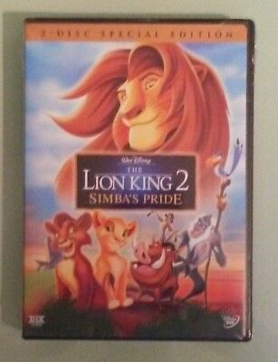 walt disney THE LION KING 2 SIMBA'S PRIDE DVD NEW factory sealed & stamped