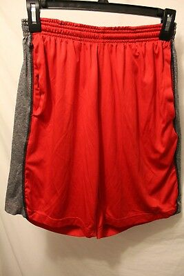"""Adidas ClimaLite Athletic Soccer Shorts Men's Waist Small Red 9 1/2"""" Inseam"""