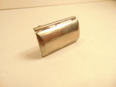 """Gillette safety razor with short handle, marked Marcas Regs; """"J"""" and """"4"""""""