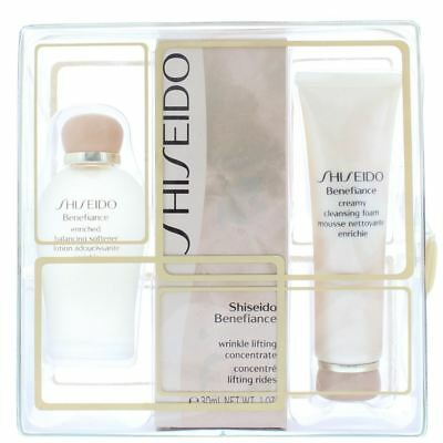 Shiseido Benefiance Wrinkle Lifting Concentrate, Softener, Cleansing Foam Set