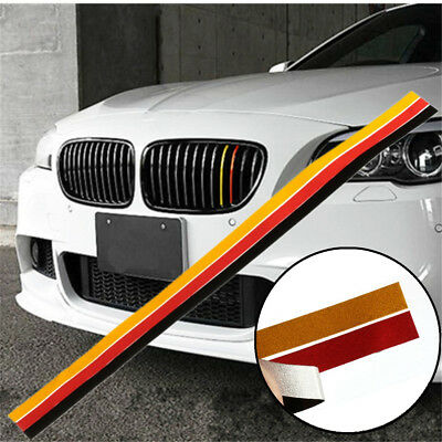 M 3 Color Grille Grill Vinyl Strip Sticker Decal For BMW M3 M5 German Flag US
