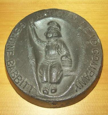 Early 1900's Lead Paperweight National Lead Company Genuine Babbitt DUTCH BOY