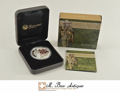 2012 Australia $1 1 OZ. Silver Proof Battles In Au. History 1951 Kapyong *0188