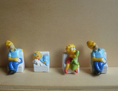 4 Figuren  von The Simpsons ( 1 x Doppelt ) / Tombola 1991 - Fremdfigur