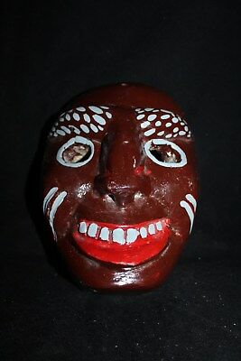 063 FACE DANCE MEXICAN WOODEN MASK mascara danza artesania wall decor madera